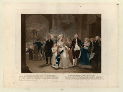 <em>The</em>  Seperation of Lewis <em>the</em> Sixteenth from his <em>Family</em> After <em>the</em> Revolution of <em>the</em> 10th of August 1792... : [estampe]