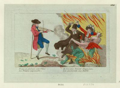 Francs et généreux sans détour Les François inapreciables ; De bon coeur donnent chaque jour, Les aristocrates aux Diables [estampe]