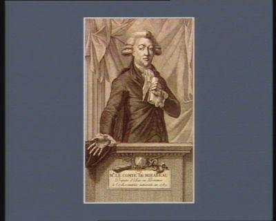 Mr le comte de Mirabeau, député d'Aix en Provence <em>à</em> l'Assemblée nationale, en 1789 [estampe]