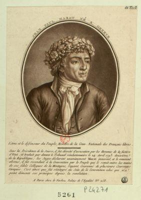 Jean Paul Marat né à Genève l'ami et le défenseur du peuple, membre de la Convention nationale des Français libres.. . : [estampe]
