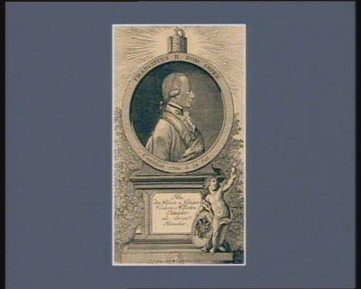 Franciscus II Rom. Imper. coronat. <em>1792</em> d. 14 Jul ihn den Weisen u Gütigen verchren Millionen Entzückt als ihren Herrscher : [estampe]