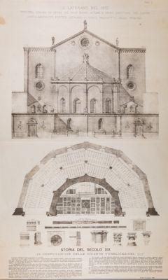 Chiesa di S. Giovanni in Laterano. Abside antica e Tribuna Nuova (1870)