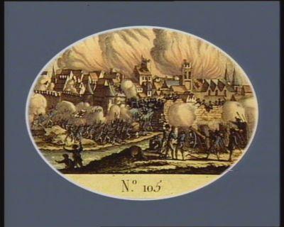 N.o 105 18 juin. 30 prairial. Bombardement de Valenciennes par les Autrichiens : [estampe]