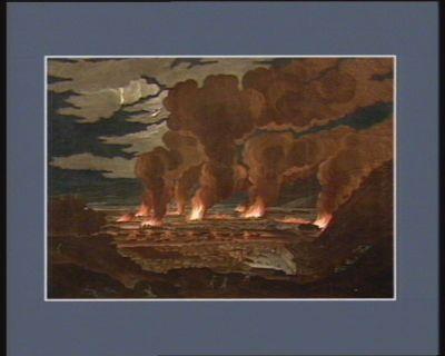 Vue des 40 jours d'incendie des habitations de la plaine du Cap français arrivée le 23 août 1791 vieux style [estampe]