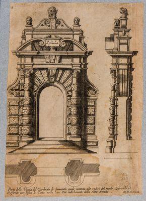 Villa del Cardinale di Sermoneta, portone d'ingresso