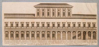 Palazzo del Quirinale. Facciata longitudinale del cortile