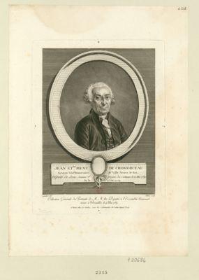 Jean Et.ne Menu de Chomorceau, lieuten.t gén.al honoraire de ville-Neuve-le-Roi deputé de Sens nommé 2.e doyen des Com[m]unes le 22 mai 1789, né le 23 mai 1724 : [estampe]