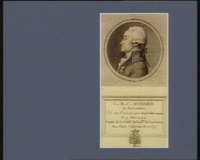 L.R.C. Achard de Bonvouloir né au Passais près Domfront en Normandie le 19 mars 1744 député de la nob.sse du bail.ge de Coutance aux Etats généraux de 1789 : [estampe]