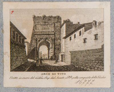 Arco di Tito visto dalla via Sacra