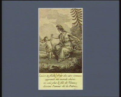 Laisse ta flèche et sur des airs connus apprends ma morale chérie, ne sois plus le fils de Venus, deviens l'amour de la patrie [estampe]