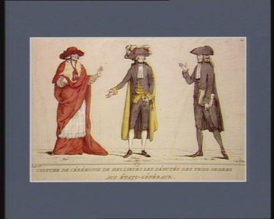 Costume de cérémonie de messieurs les députés des Trois Ordres aux Etats-généraux [estampe]