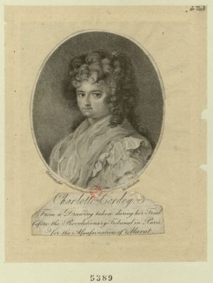 Charlotte Cordey from a drawing taken during her trial... : [estampe]