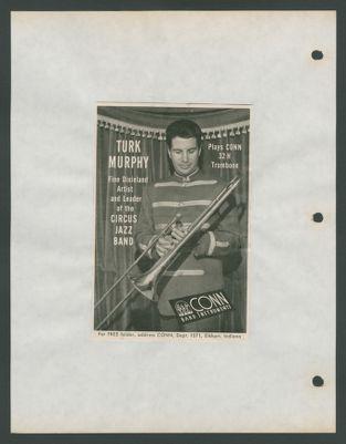 C. G. Conn ad featuring Turk Murphy