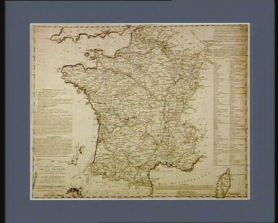 Carte raisonnée de la France, suivant la division decretée par l'Assemblée nationale 1.o en 83 départemens comprenant 547 districts, autant de tribunaux criminels que de departemens [estampe]