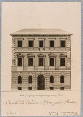 Palazzo della Farnesina ai Baullari, prospetto