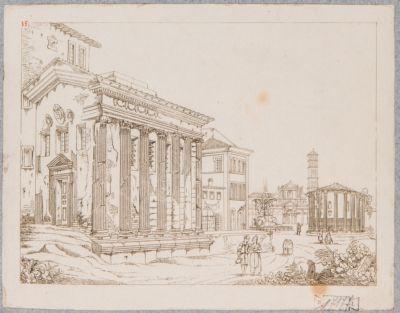 Foro Boario, veduta dei templi della Fortuna Virile e di Vesta
