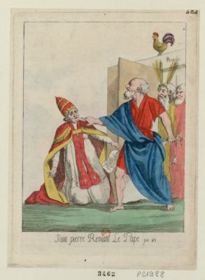 Saint Pierre reniant le pape Pie <em>VI</em> [estampe]
