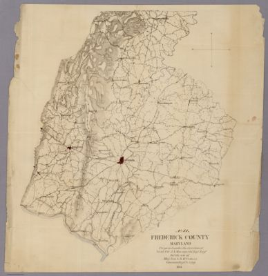 Carroll County street road map Maryland featuring