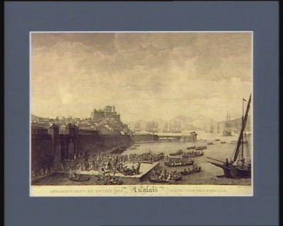 Débarquement et entrée des Anglais dans Porto-Ferrajo le 10 juillet <em>1796</em> : [estampe]