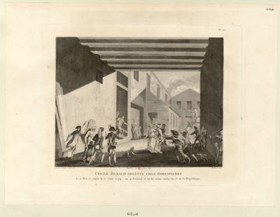 Cécile Renaud arrêtée chez Robespierre le 22 mai, et jugé le 17 juin 1794, ou 4 prairial et 29 du même mois, an 2 de la République : [estampe]
