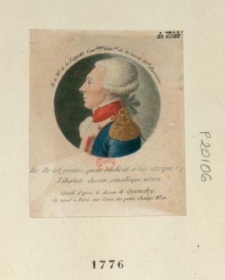 Mr le m.is de la Fayette com.dant géné.al de la Garde n.ale parisienne [estampe]