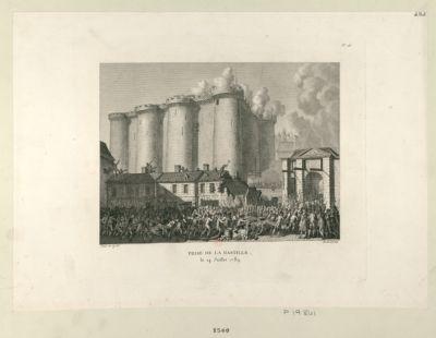 Prise de la Bastille le 14 juillet 1789 : [estampe]