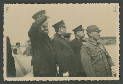Wang Jingwei at a naval event
