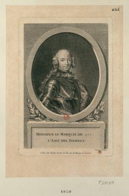 Monsieur le marquis de *** l'amis des hommes [estampe]