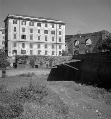 Baths of Helena, side view of the cisterns on Via Eleniana