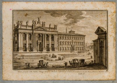 S. Giovanni in Laterano. Chiesa e palazzo dalla piazza