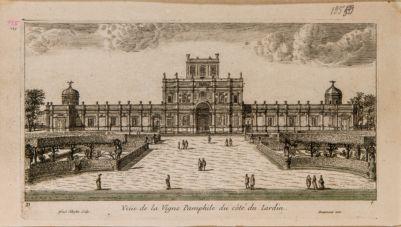Veduta della Vigna Pamphili presso Roma dal lato dei giardini
