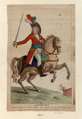 Buonaparte général en chef de l'armée d'Italie, né <em>à</em> Ajaccio en Corse le 15 aoust 1769 : [estampe]