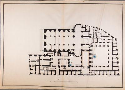 Chiesa di S. Agostino, pianta della chiesa e del convento