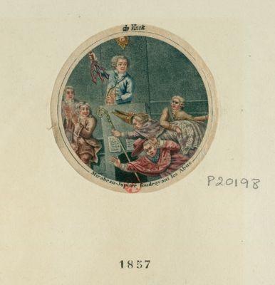 Mirabeau-Jupiter foudroyant les abus [estampe]