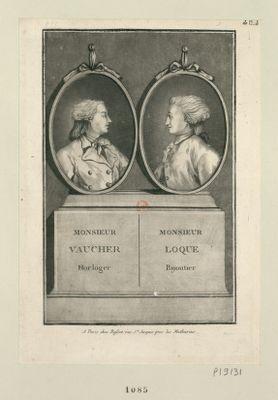 Monsieur Vaucher horloger Monsieur Loque bijoutier : [estampe]