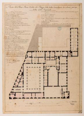Palazzo della Cancelleria. Primo piano nobile, pianta