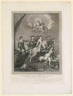 Coalizione delle potenze alleate contro i rivoluzionary francesi [estampe]