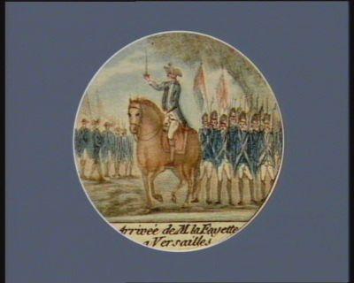 Arrivée de M. la Fayette a Versailles [estampe]
