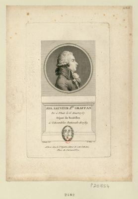 Jos. Sauveur J.ques Graffan né à Thuir le 6 aoust 1757 député du Roussillon à l'Assemblée nationale de 1789 : [estampe]