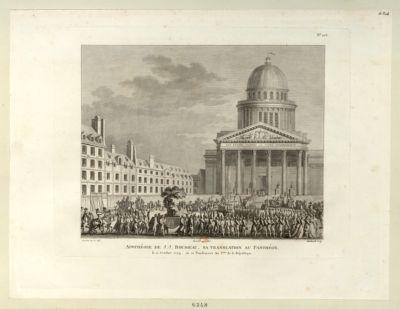 Apothéose de J.J. Rousseau. Translation au Panthéon le 11 octobre 1794, ou 20 vendemiaire an 3.eme de la République : [estampe]