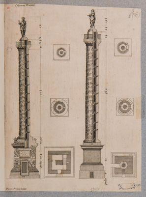 Colonna Traiana e Antonina, ragguaglio con piante e sezioni