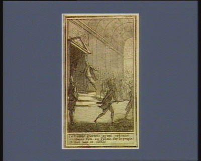 Le  Comte d'Artois, ayant ordonné de faire feu au Palais sur le peuple il fut hué et sifflé [estampe]