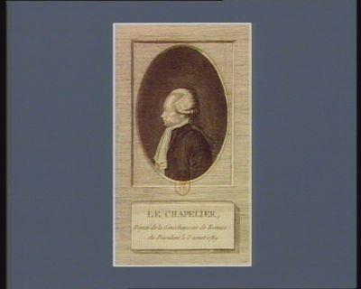 Le  Chapelier député de la sénéchaussée de Rennes, élu président le 3 aoust 1789 : [estampe]