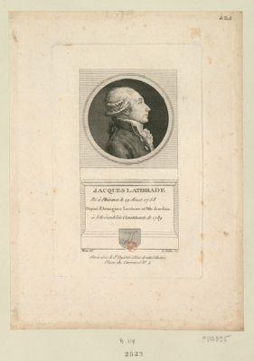 Jacques Laterrade né à Plaisance le 19 aoust 1758 député d'Armagnac Lectoure et l'Isle Jourdain à l'Assembée constituante de 1789 : [estampe]