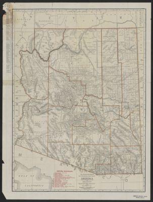Road Map Of Arizona And New Mexico.International Travel Maps Arizona New Mexico Scale 1 900 000