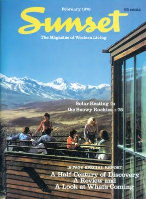 Sunset Magazine cover. February 1979