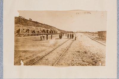 Esquilino (Termini), scavo lungo i binari della ferrovia