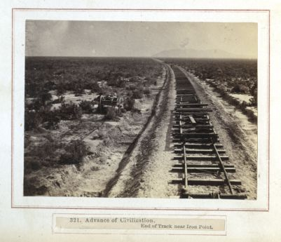 Advance Of Civilization End Of Track Near Iron Point. # 321, Photograph
