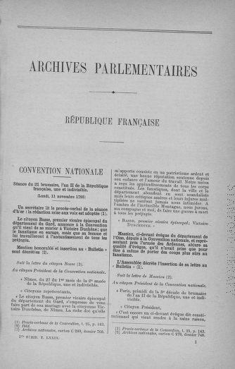 Tome 79 : Du 11 au 23 novembre 1793 - page ..
