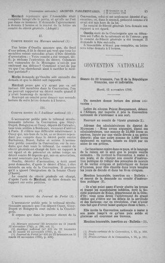 Tome 79 : Du 11 au 23 novembre 1793 - page 45